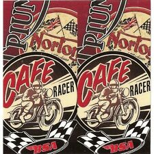 "Sticker "" CAFE RACER "" 68mm x 65mm BIC Lighter"
