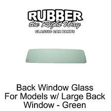 1960 - 1966 Chevy & GMC Truck Back Window Glass - Green - Models w/ Large Window