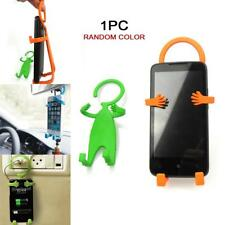 Humanoid Design Mobile Foldable Cell Phone Holder Wall Charger Hanger Safety GA