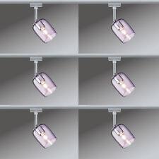 6er Set Paulmann URail Schienensystem Spot Blossom max. 1x25W G9 Chrom matt/Pink