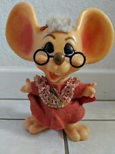 VINTAGE ROY DES OF FLA 1970 HURON MRS CLAUSE MOUSE BANKS BIG EAR (#3)