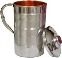 Indian Silver Copper Jug Health Pitcher 1000 ML Water Storage Benefit Ayurveda