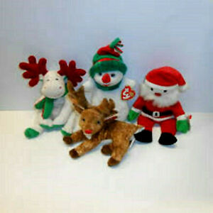 """CHRISTMAS/WINTER ANIMALS/CHARACTERS inc PENGUINS **TY BEANIE BABIES** approx 8"""""""