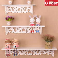 3pcs Wall Floating Shelf Shabby Bookshelf Home Office Shop Display Storage White