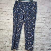 Boden Women's Pants Navy Blue /Brown sz US10R Business Career 32x26 WM352 Casual