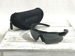 Ess Crossbow Mens Blade Wrap Sunglasses Matte Black Gray Lenses