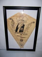Vintage Framed Phillips 66 Cowboy Gas Station Advertising Hi-Flier Kite