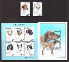 Nicaragua MNH 2000 Dog Breeds set sheet mint stamps