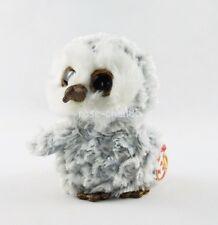 "6"" Ty Beanie Boos Owlette Gray Owl Glitter Eyes Plush Stuffed Girl Toys With Tag"