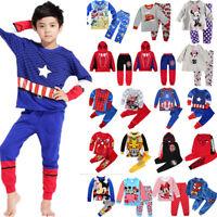 Spiderman Mickey Minnie Kids Toddler Baby Boys Girls Nightwear Pajamas Pjs Sets