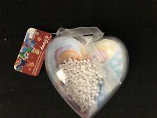 Frozen Anna And Elsa Plastic Heart Christmas Decoration
