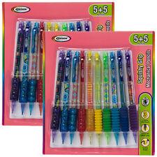 20ct Squishy Foam & Gel Grip #2 Mechanical Pencils Bulk Set Erasers 0.7mm Lead