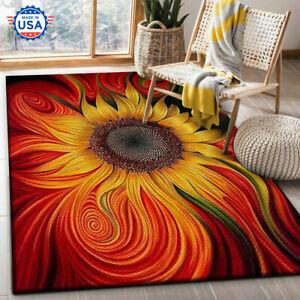 Sunflower Hippie - Fashion Style Area Rug, Decor Floor Nice Carpet, The US Decor