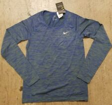 f2f187820 New Nike Womens Dri-Fit Knit Long Sleeve Shirt Running Top $80 Sz M