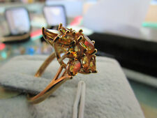 14k Yellow Gold Citrine Ring Size 7 3/4 (10-25-18)