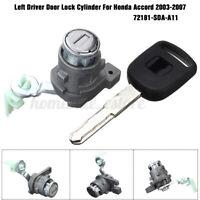 Left Driver Side Door Lock Cylinder 72181SDAA11 For Honda Accord 03-07 4 Doors