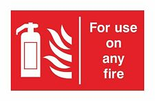 1x for use on any fire EXTINGUISHER warning sticker door home store
