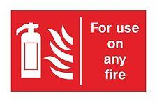 1x per l'uso su qualsiasi Fire WARNING Adesivo Decalcomania per estintore PORTA CASA NEGOZIO