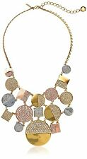 "KATE SPADE ""LIGHT THE LANTERNS"" STATEMENT BIB NECKLACE EARRINGS ROSE GOLD SILVER"