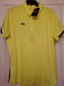 Under Armour Heatgear Women's Polo Shirt (Yellow) Size (XL)