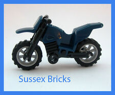 Lego - Dark Blue Dirt Bike Motorbike Motorcycle Motocross - City - New Pieces