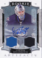 15-16 Artifacts Connor Hellebuyck /125 Auto Jersey Rookie Winnipeg Jets 2015