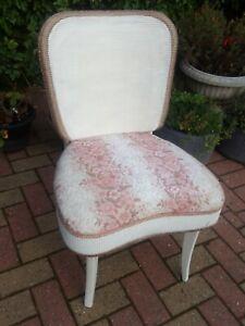 Vintage Retro Lloyd Loom Style Wicker Natural  bedroom chair