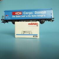 Märklin 4735 Freight Car Sliding Wall Wagon Hbis of The Cargo Domicile SBB Boxed