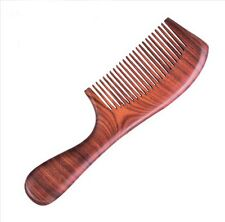 Fine Tooth RED Sandal Wood Handle Comb Anti-static Wooden Comb