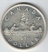 CANADA 1950 SWL VOYAGEUR SILVER DOLLAR KING GEORGE VI CANADIAN SILVER COIN