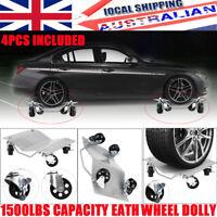 Set of (4) Auto Dolly Wheel Tire Skate Castor Auto Car Dollies Slide 1500Lbs