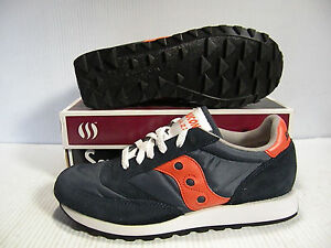 SAUCONY JAZZ ORIGINAL SNEAKER UNISEX MEN SIZE 8 = WOMEN SIZE 9.5 SHOES NAVY/ NEW