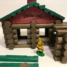 Original Lincoln Logs Classic Edition Frontier Cabin 86 pieces Complete