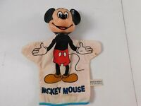 Vintage Mickey Mouse Hand Puppet Walt Disney Productions w/ Working Squeaker