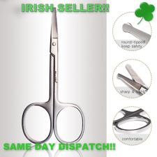 Grooming Scissors Round Tip Moustache Nose Beard Hair Trimming Scissor (SLV)