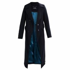 Wallis Twill Drape Collar Wool Coat Size Uk 14 rrp £95 LS081 AA 03