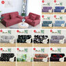 Stretch Chair Loveseat Sofa Covers 1 2 3 4 Seater Couch Cover Floral Slipcover