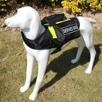 Pockets Service Dog Harness vest Removable Patches Therapy Emotional SECURITY