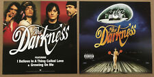 THE DARKNESS Rare DOUBLE SIDED PROMO POSTER FLAT for 2004 CD MINT USA 12x12 MINT