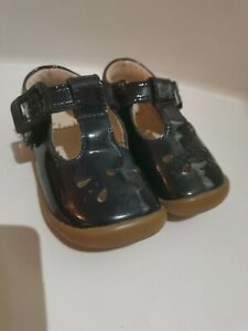 Girls Baby Clarks Shoes Navy Size 3