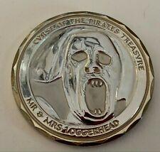 Curse of the Pirates Treasure Geocoin - gold