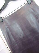 Carolina Herrera Leather Pencil Skirt Dark Purple Size 8 Saks Fifth Ave  HJC