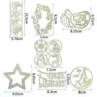 Merry Christmas Metal Cutting Dies Scrapbooking Photo Embossing Mold Album U0B8
