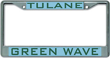 Tulane University Green Wave License Plate Frame
