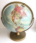"VTG Replogle 12"" World Nation Series Rotating Globe Metal Dual Axis Stand USSR"
