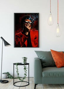 The Weeknd Singer Print Glossy Canvas Wall Poster Home Size A4