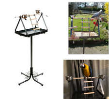 Parrot Play Stand Gym Large Free Standing Perch Classic Style Iron Dirt Tray UK