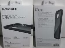 New Original TECH21 Evo Check Smokey Black Slim Case Cover for Moto Z Play Droid