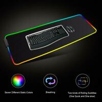 Large RGB Gaming Mouse Pad Led Mouse Keyboard Pad Mat 31.5 X 11.8inch US stock