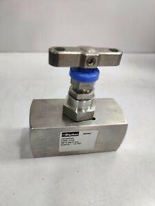 "Parker HNVS8FFHP 316SS PTFE Model A1 1/2"" NPT Needle valve"